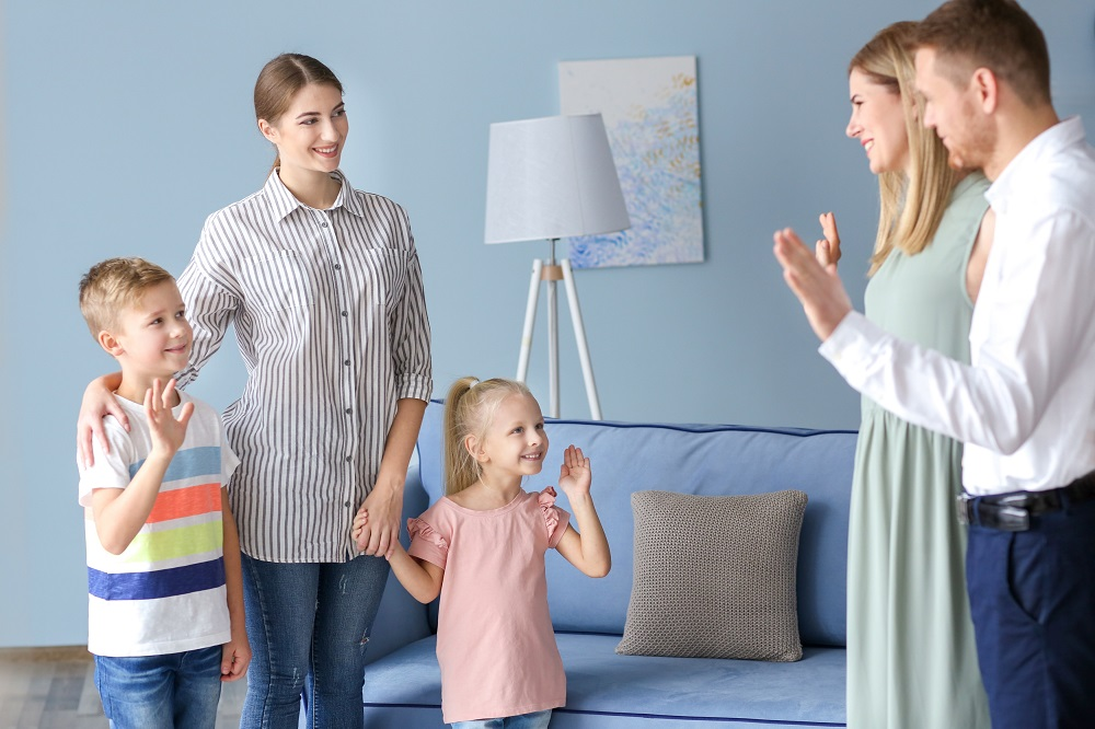 Parents leaving children home with nanny